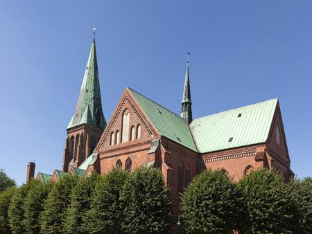 referred: 13th century St. Johannis church at Meldorf, often referred to as Meldorf Cathedral Stock Photo