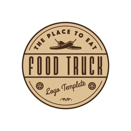 chili pepper: Company template for food truck