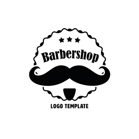 barbershop: Company Logo Template for Barbershop