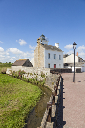 manche: Old lighthouse at Barfleur, Lower Normandy, France