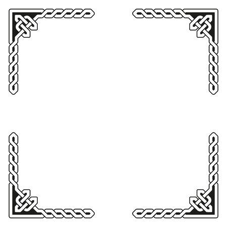 braided: Traditional celtic braided frame elements Illustration