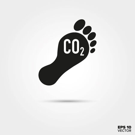 Carbon footprint Icon. Environmental Damage and Global Warming Symbol. EPS 10 Vector. Illusztráció