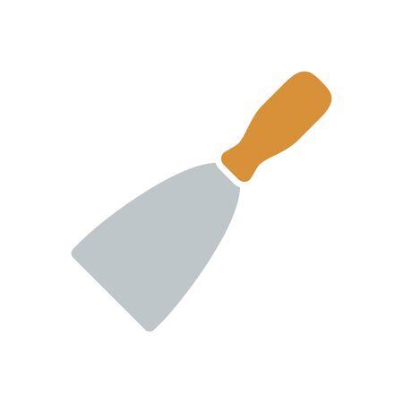 do it: spatula, Home improvement tool icon Illustration