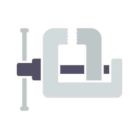 vise grip: vise grip, workshop tool icon Illustration