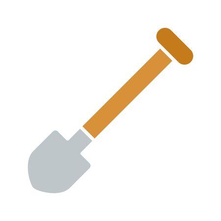 Spade, gardening tool icon