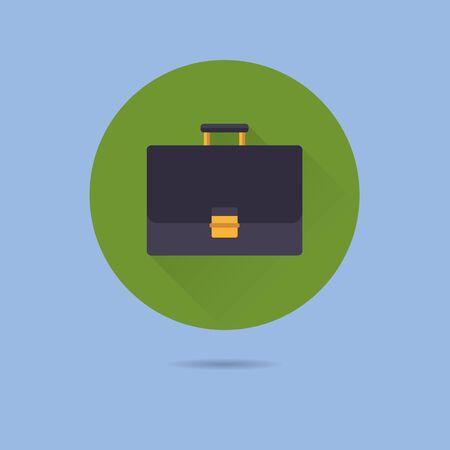 briefcase flat design long shadow vector icon Ilustração