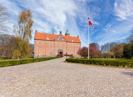 17th: 17th century water castle Sostrup, Gjerrild, Denmark Stock Photo