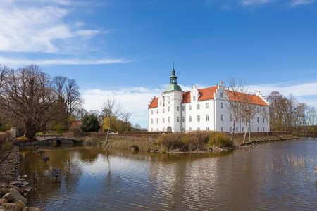 Water castle at Meilgaard, Jutland, Denmark Stock Photo
