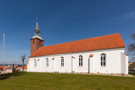 Church above the village of Ebeltoft, Djurslans, Jutland, Denmark