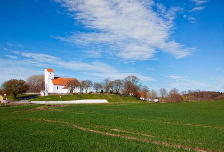 Helgenaes Kirke, church on helgenaes peninsula, Denmark Stock Photo