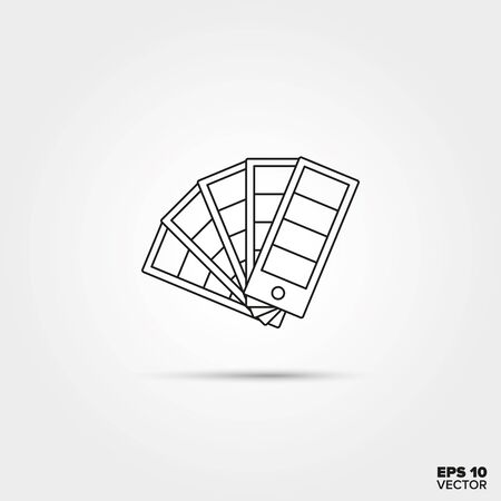 swatches: Color Selector Fan Line Icon Vector Illustration