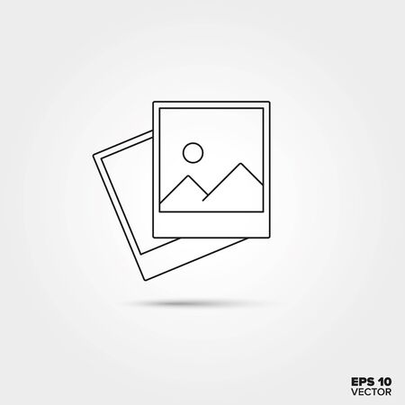 Instant photography images Line Icon Vector