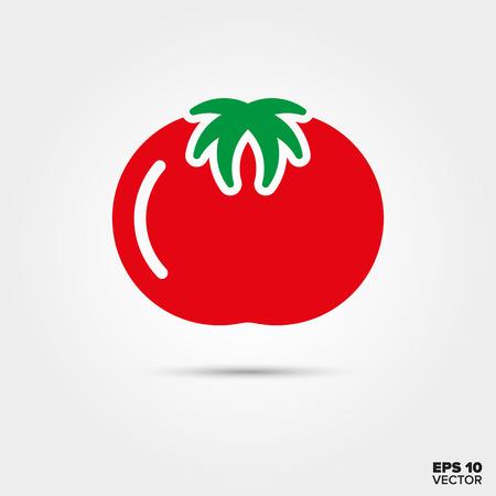 トマト 2 色ベクトルのアイコン  イラスト・ベクター素材