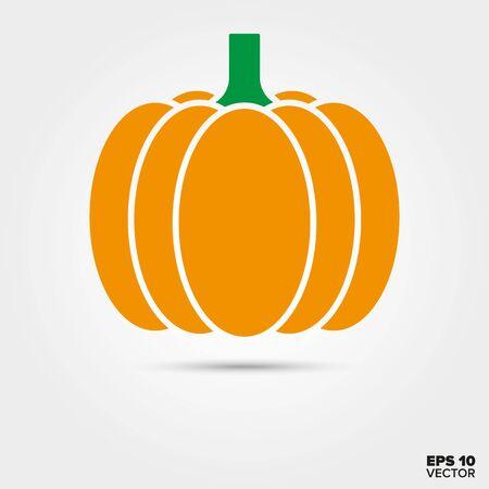 pumpkin two color vector icon