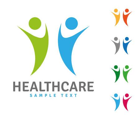 Plantilla de logotipo de empresa con personas mayores saltando divertidos Foto de archivo - 85133313