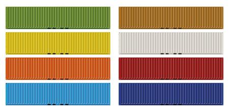 8 가지 색상의 40 피트화물 컨테이너