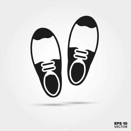 Pair of Brogues vector icon. Elegant foot wear symbol.