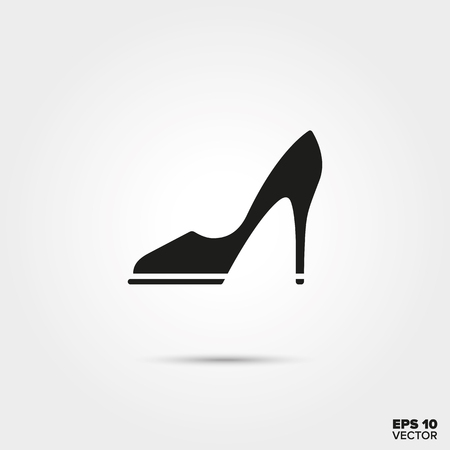 High heel stiletto vector icon. Elegant ladies foot wear symbol.