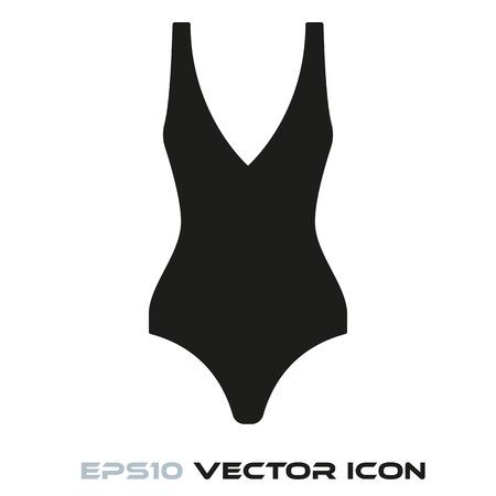 Swimsuit flat glyph icon vector Ilustração