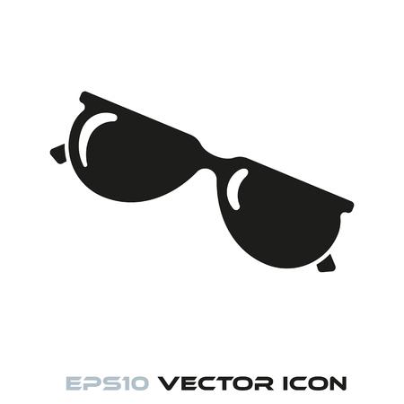 Sunglasses flat glyph icon vector