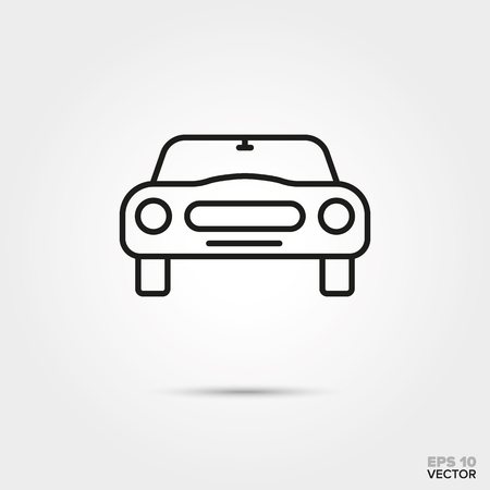 front view of sportscar vector icon. Automotive parts, repair and service symbol. Illustration