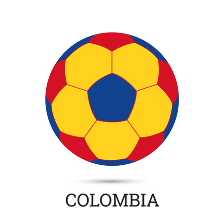 Soccer ball with Colombian national colors vector illustration Ilustrace
