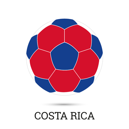 Soccer ball with Costarican national colors and emblem vector illustration  イラスト・ベクター素材