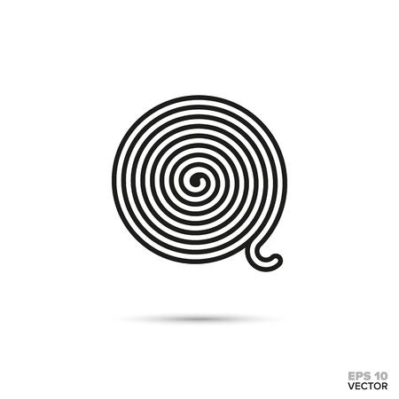 Licorice wheel vector line icon. Sweet food symbol.