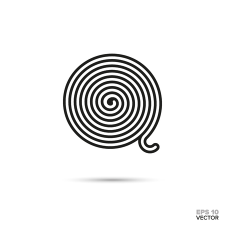 Licorice wheel vector line icon. Sweet food symbol. Illustration