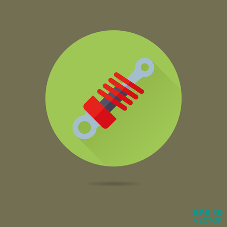 shock absorber flat design vector icon