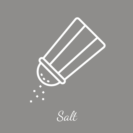 Salt shaker icon. Seasoning vector symbol. Vectores