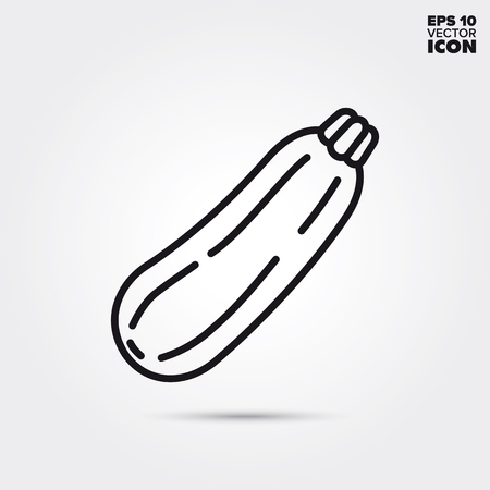 Zucchini line icon. Healthy vegetable vector symbol.