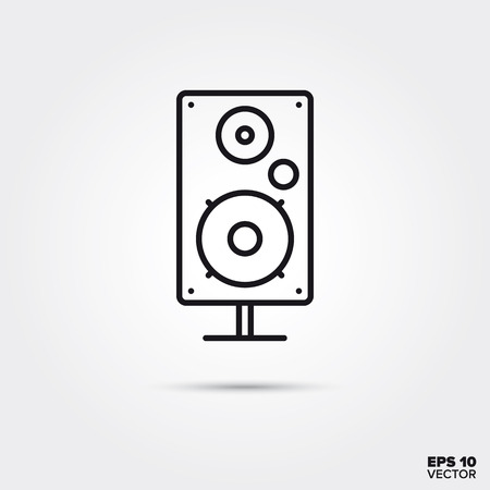 Speaker line icon vector illustration. Media and entertainment symbol.