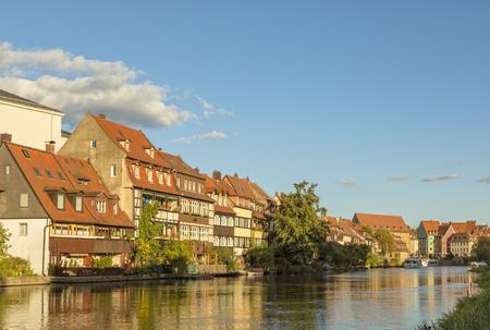 Klein-Venedig (Little Venice), historic quarter on the shore of Regnitz river at Bamberg, Germany
