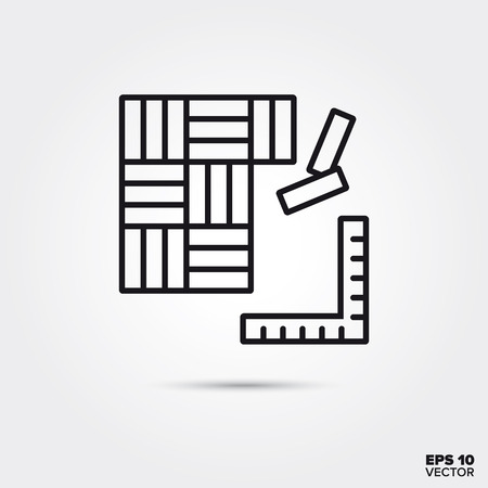hardwood flooring line icon vector illustration. Home decoration and interior symbol. Ilustração