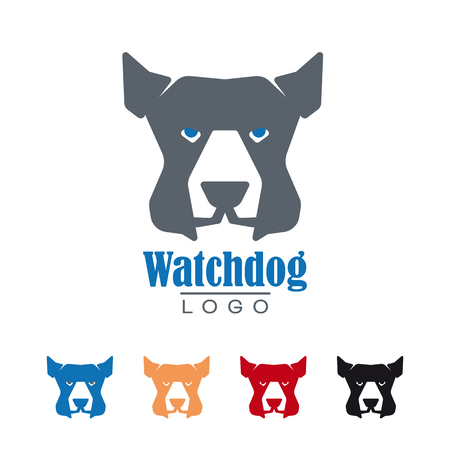 Company  template with watchdog vector illustration. Protection and security symbol.