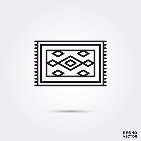 carpet line icon vector illustration. Home decoration and interior symbol. Çizim