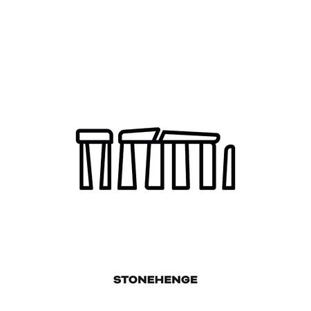 Stonehenge monument at Wiltshire, England, UK, vector line icon. International landmark and tourism symbol.