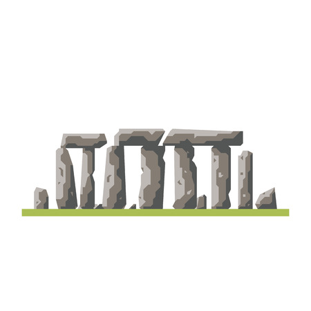 Flat design Stonehenge prehistoric site isolated icon
