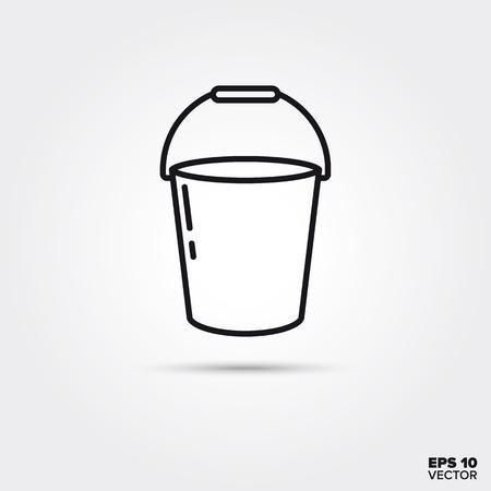 Bucket line icon. EPS 10 vector symbol. Ilustração