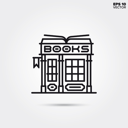 Book store store line icon. EPS 10 vector illustration.