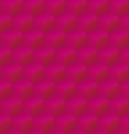 Geometric abstract pink and purple cubic seamless pattern vector background illsutration Иллюстрация