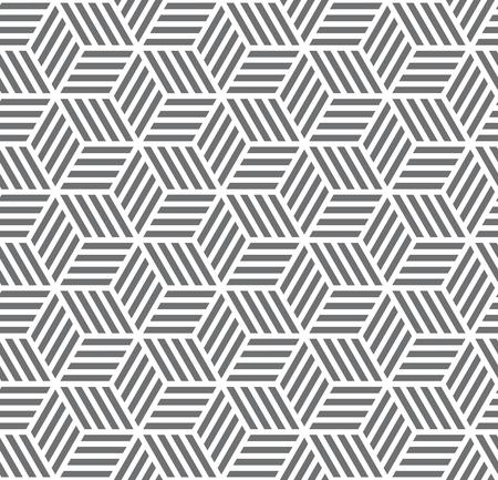 Abstract hexagonal gray seamless pattern background vector illustration