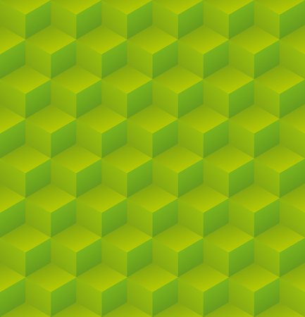 Geometric abstract green cubic seamless pattern vector background illsutration