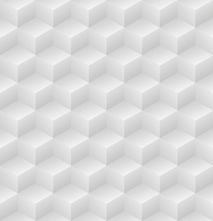 Geometric abstract light gray cubic seamless pattern vector background illsutration