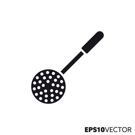 Ladle glyph icon. Symbol of cooking utensils. Cooking related flat vector illustration. Foto de archivo - 130504293