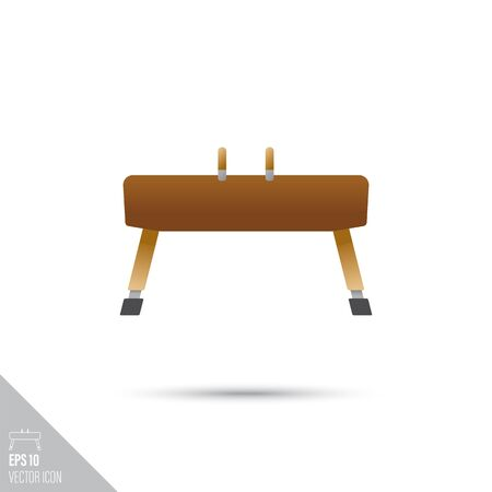 Smooth style pommel horse icon. Gymnastics and sports equipment vector illustration. Foto de archivo - 133675424