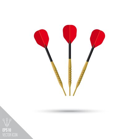 Smooth style dart arrows icon. Target sports equipment vector illustration.