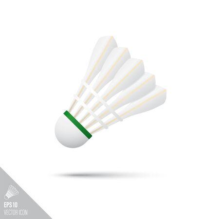 Smooth style badminton shuttlecock icon. Sports equipment vector illustration.