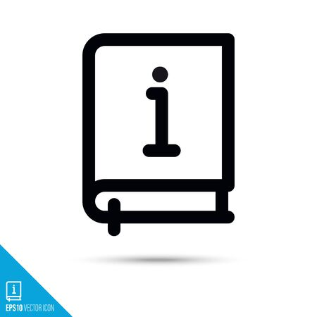 User manual line icon. Information and support vector symbol. User interface pictogram for web and apps.